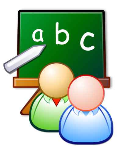 Blackboard Class Students With A, B, C Writing Png Hd PNG Images