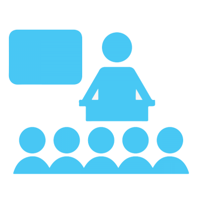 Blue Teacher And Students Lesson Class illustration icon Png PNG Images
