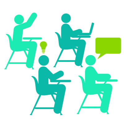 Classmates With Student Raising Hands Free Png PNG Images