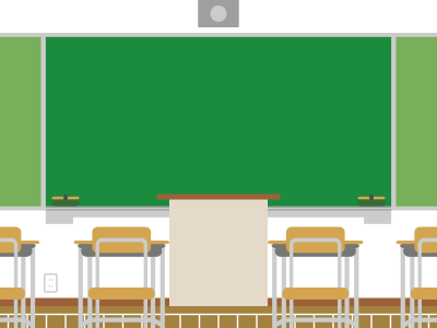 Green Lecture Board And Student Desks Free Transparent PNG Images
