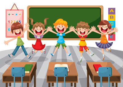 Happy Students in Classroom, School illustration Hd Transparent, Kindergarten Png PNG Images