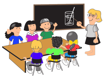 Science Lesson in Classroom With Female Teacher Background Transparent PNG Images