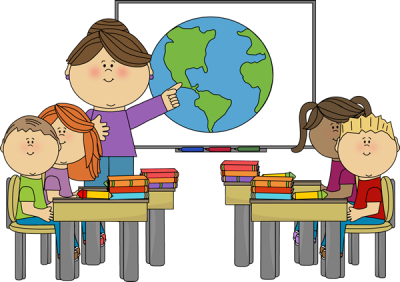 World, Female Teacher And Class On Classroom Clipart Png PNG Images