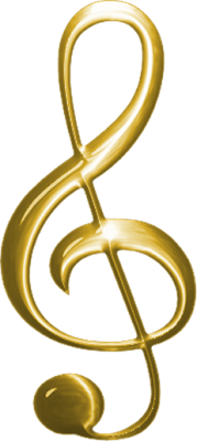 Monti Music Clef Gold Photo Png PNG Images