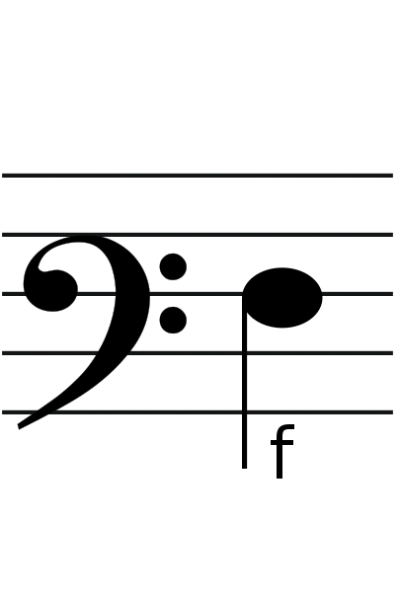 Percussion Clef With Note Pictures