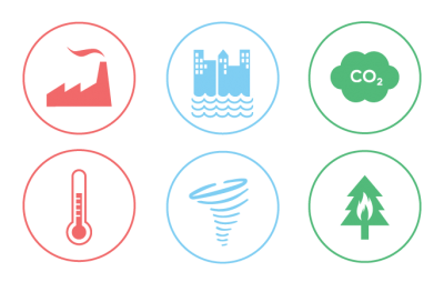 Climate Change Icons For Social Png