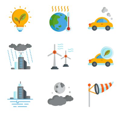 Climate Change Vector Icons Png