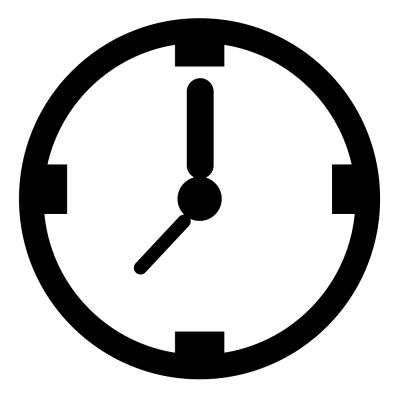 Outline Clock PNG Images