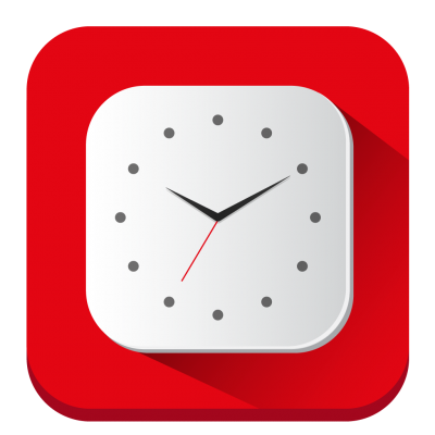 Simple Clock Icon Symbol PNG Images