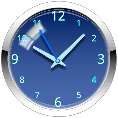 Blue Wall Clock Transparent PNG Images