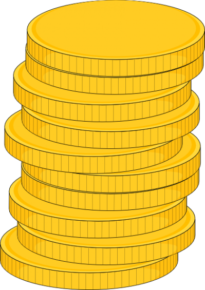 Coin Stack Vector PNG Images