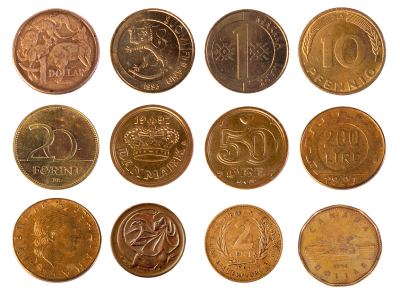 Various Coins Transparent Image PNG Images