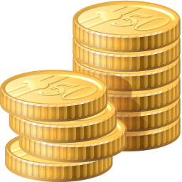 Yellow Coins Icon Clipart