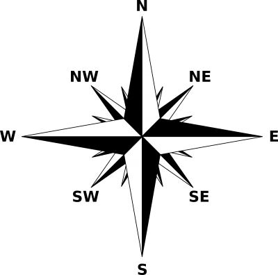 Black And White Compass Png Clipart