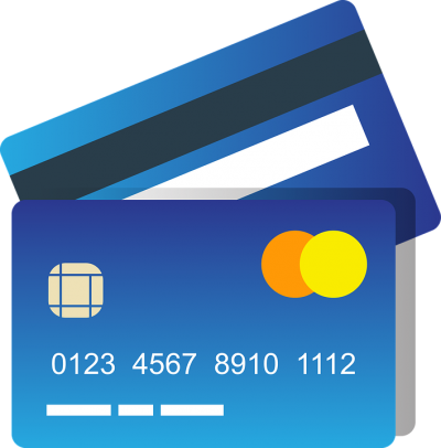 Blue Credit Card Clipart Photo PNG Images