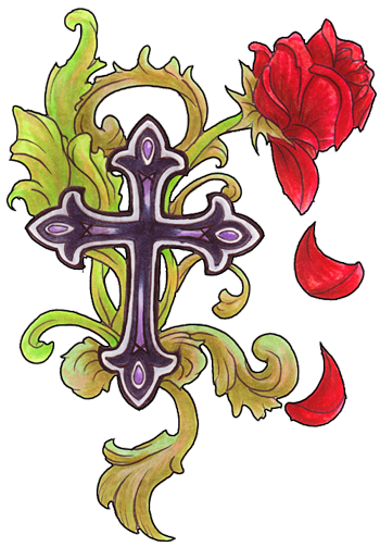 PNG File Cross Tattoos Clipart