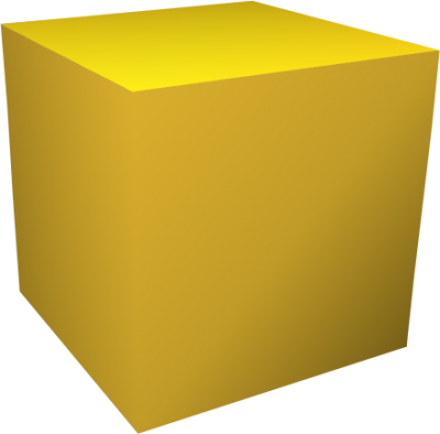 Yellow Cube Transparent Image