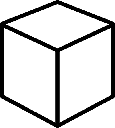 Outline Cube Cut Out PNG Images