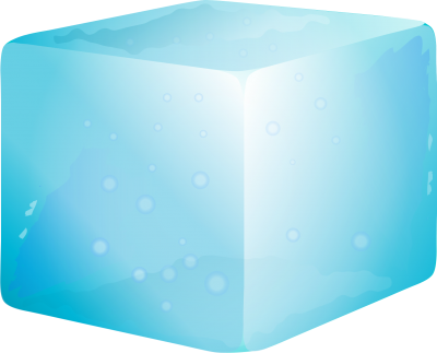 Blue Ice Cube Transparent Background