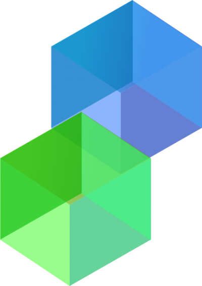 Blue And Green Cube Clipart Photo