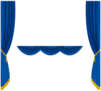 Blue Curtain Png Images