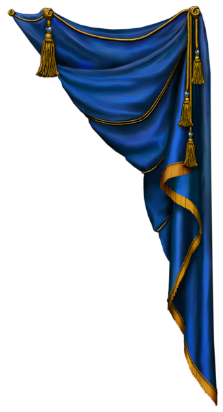 Dark Blue Curtain Png Images
