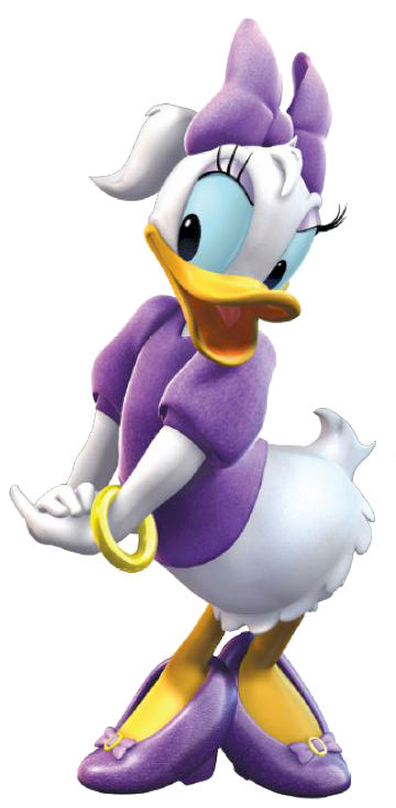 Purple Daisy Duck Clipart