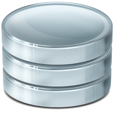 Silver And Blue Database Transparent