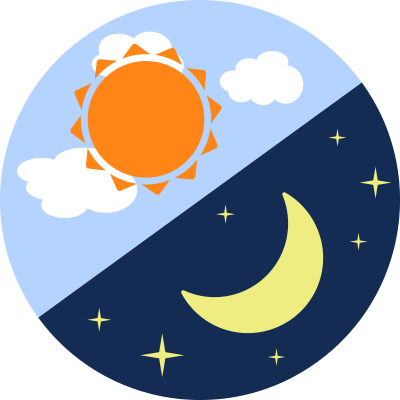 Day And Night Clipart PNG Images