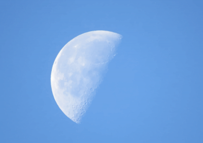 Half Moon In Daylight Png PNG Images
