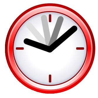 Red Clock Daylight Pictures PNG Images