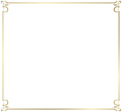 Simple Decorative Border Transparent Background