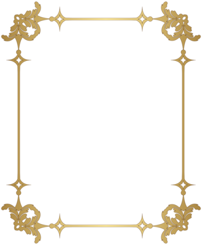 Golden Decorative Border PNG Picture