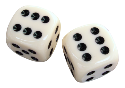 White Dice Transparent PNG Images