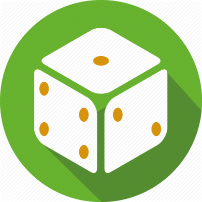 Green Dice Icon PNG Images