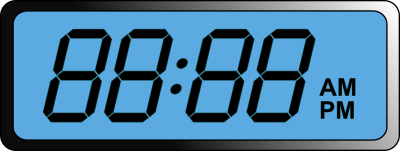 Digital Clock Cut Out 17 PNG Images