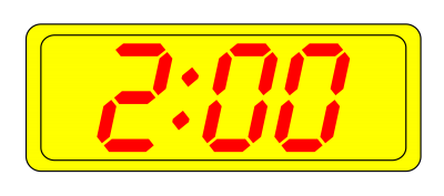 Digital Clock Simple PNG Images