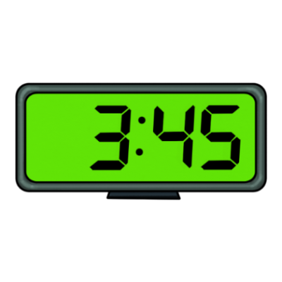 Picture Digital Clock Transparent