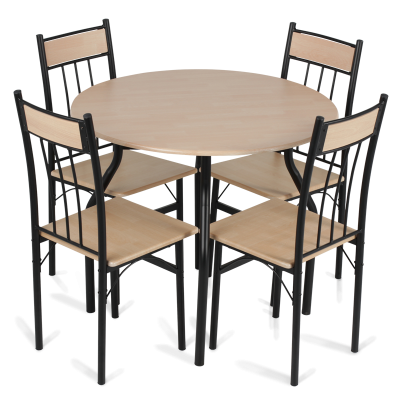 Table For 4, White Table, Chairs, Elegant Table Design Png PNG Images
