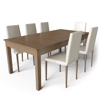Large Dining Table With Chairs Transparent PNG Images