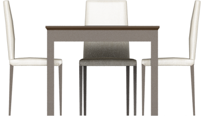 White Table Design 3D Png PNG Images