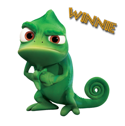 Render Raiponce Pascal Cameleon Vert Png PNG Images