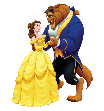 Disney Belle And Beast Transparent PNG Images