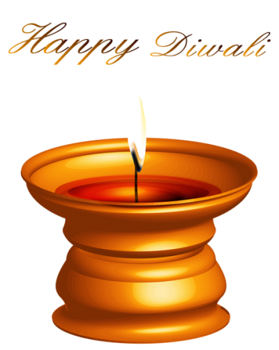 Happy Diwali Candle Decor Png Clipart
