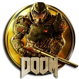 Doom Circle Logo Icon