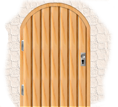 Closed Beautiful Old Door Png PNG Images