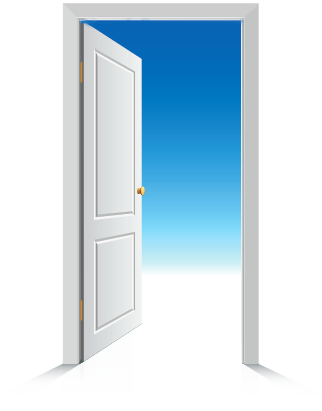 Open The Door To You Future Good Credit Png PNG Images