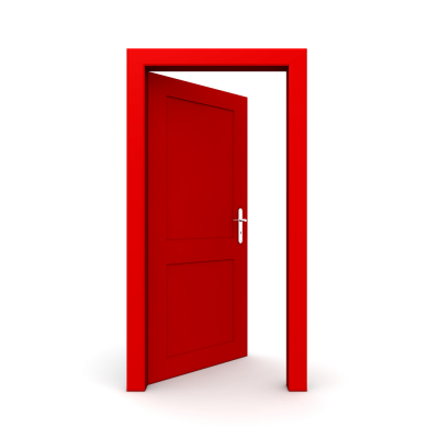 Red Open Door Png