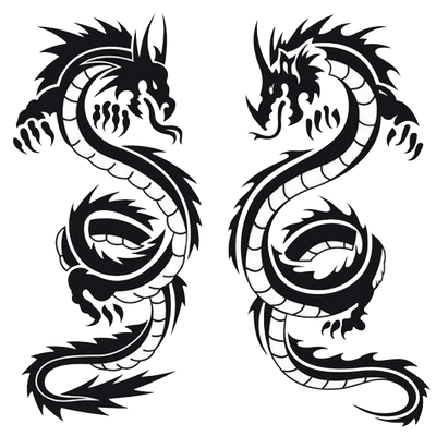 Background Dragon Tattoos PNG Images