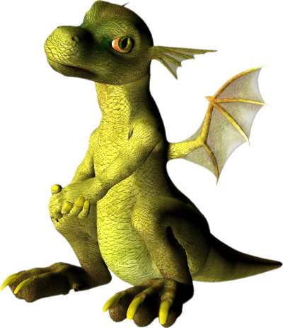 Cute Dragon Background PNG Images